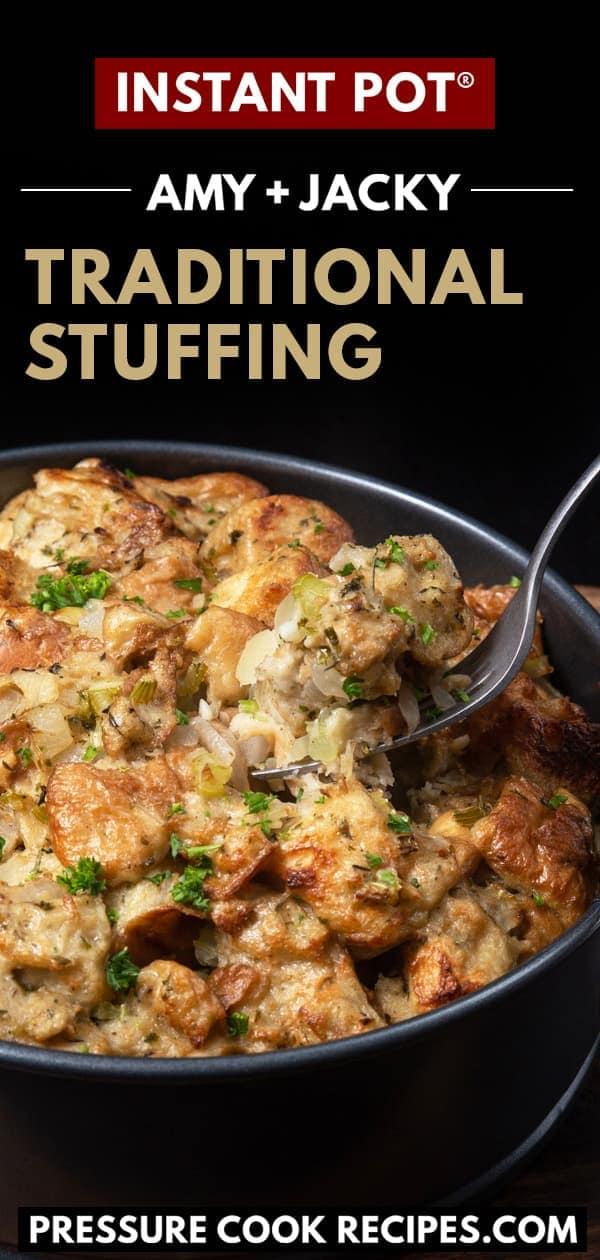 instant pot stuffing | stuffing instant pot | pressure cooker stuffing | stuffing recipe | easy stuffing | air fryer stuffing | turkey stuffing | thanksgiving | christmas recipes #AmyJacky #InstantPot #PressureCooker #sides #christmas #recipes