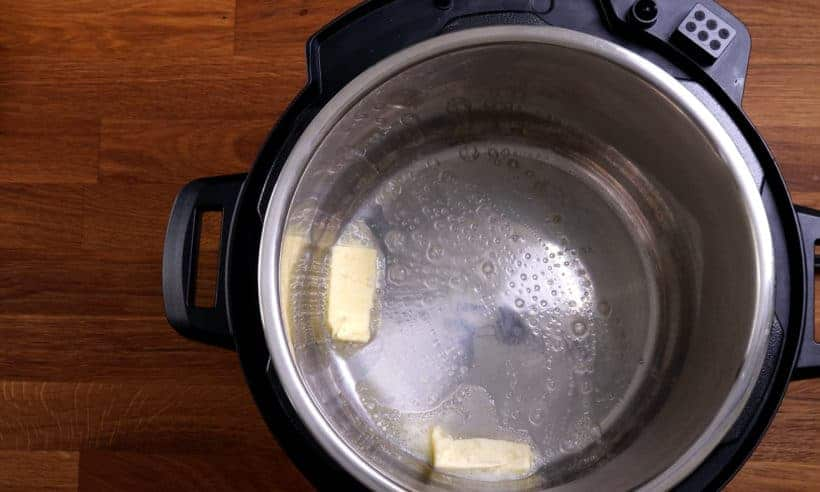 Melt butter in Instant Pot Pressure Cooker  #AmyJacky #InstantPot #PressureCooker  #recipe