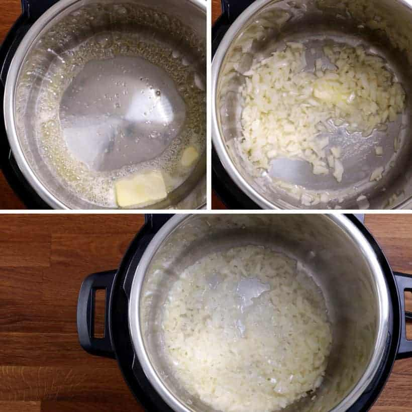 saute onions in Instant Pot #AmyJacky #InstantPot #PressureCooker #sides #christmas #recipes