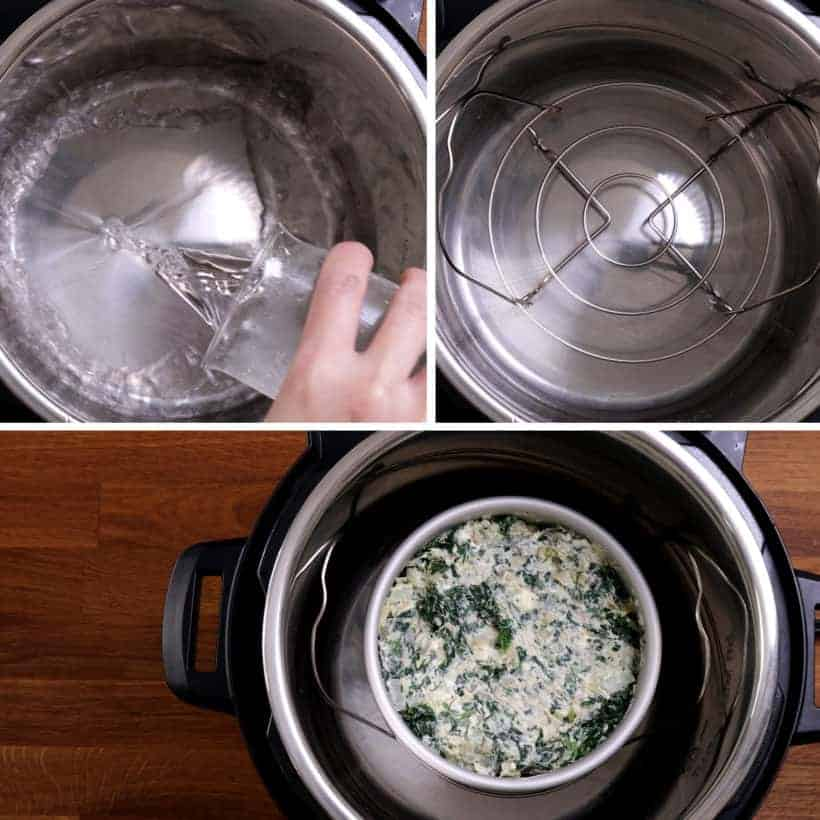 Cooking spinach artichoke dip in Instant Pot Pressure Cooker  #AmyJacky #InstantPot #PressureCooker #recipe