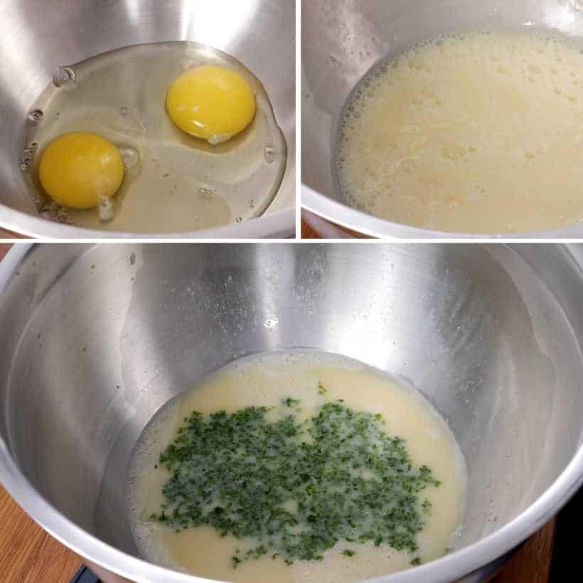 Make egg mixture for stuffing #AmyJacky #InstantPot #PressureCooker #sides #christmas #thanksgiving #recipes