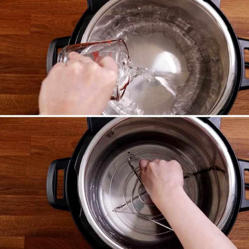 Place trivet in Instant Pot Pressure Cooker    #AmyJacky #InstantPot #PressureCooker #recipes