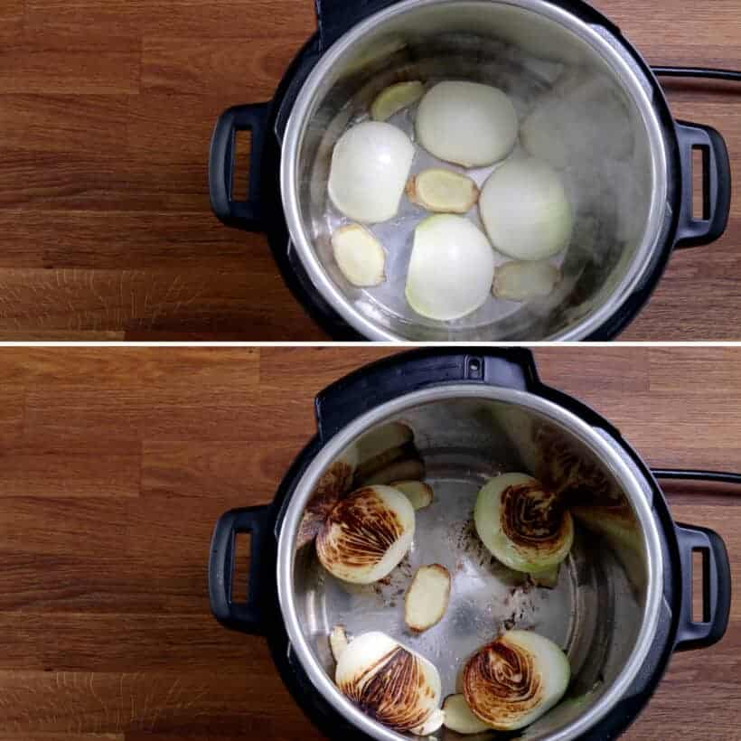 char onions in Instant Pot Pressure Cooker #AmyJacky #InstantPot #PressureCooker #recipe