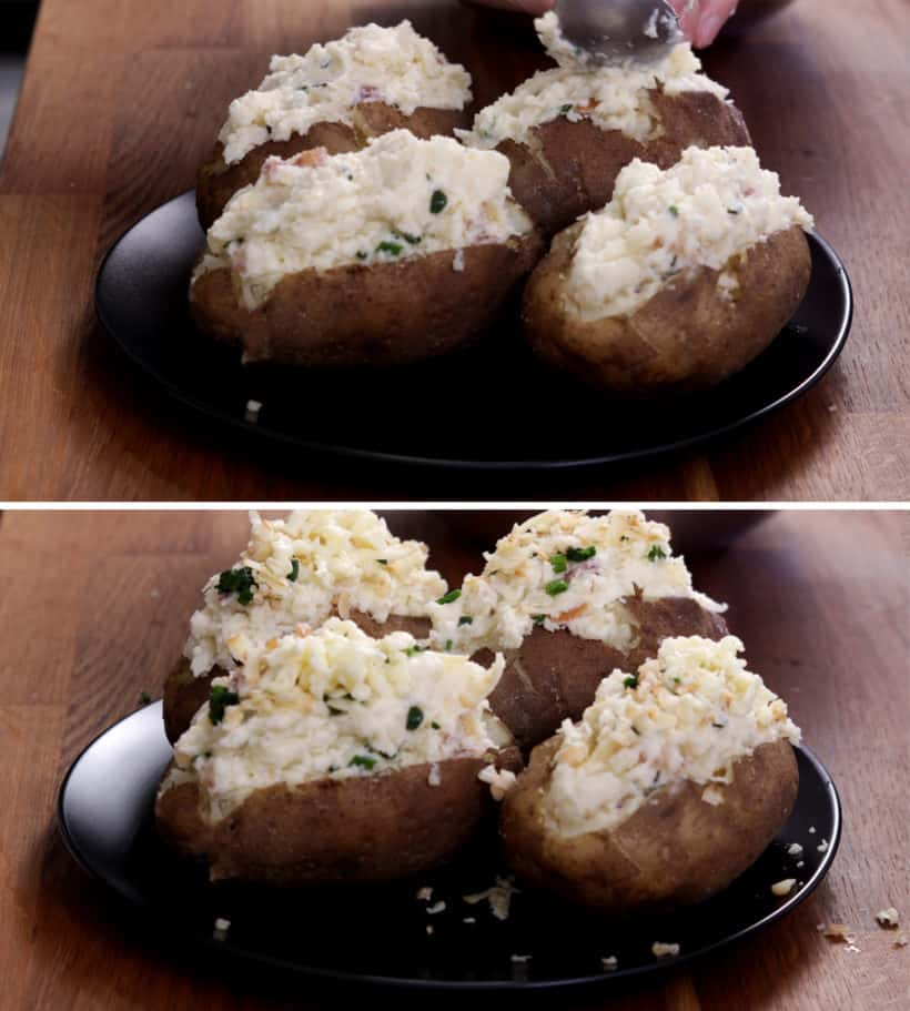 how to make twice baked potatoes    #AmyJacky #InstantPot #PressureCooker #AirFryer #NinjaFoodi #sides #potatoes