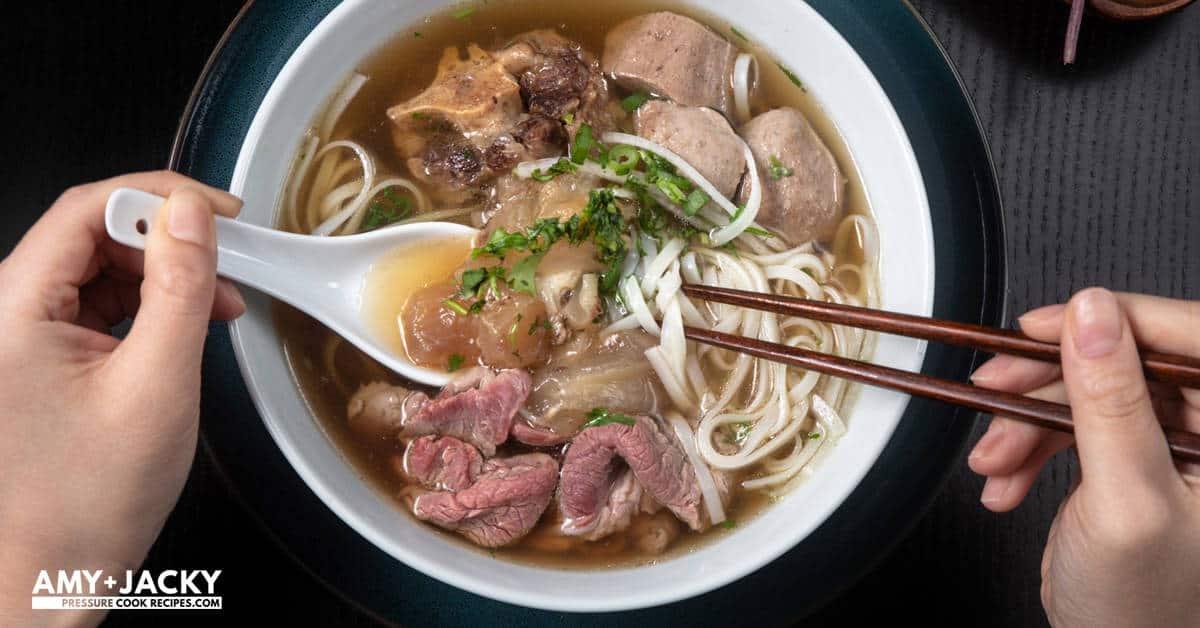 Instant Pot Pho Vietnamese Beef Noodle Soup Tested By Amy Jacky