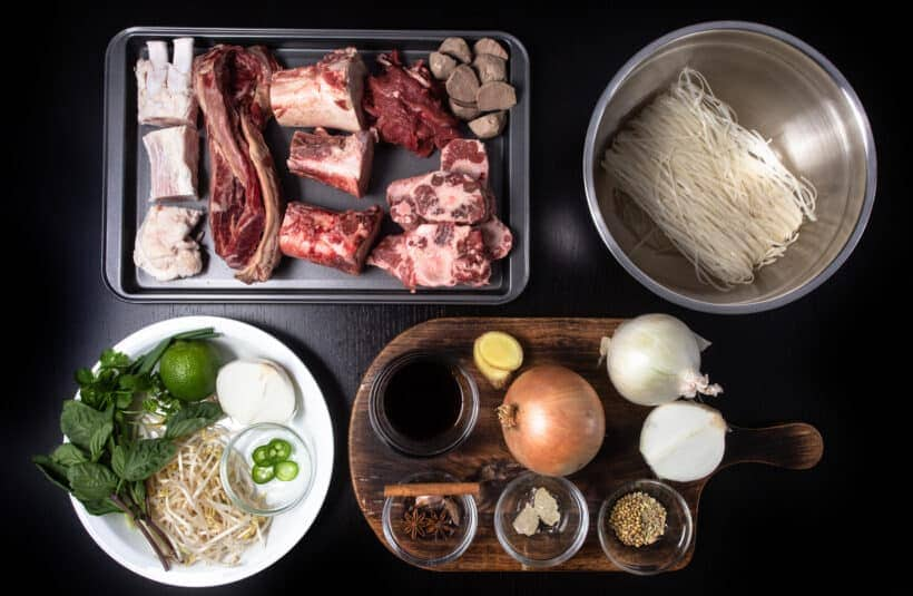 Instant Pot Pho Ingredients #AmyJacky #InstantPot #PressureCooker #recipe #asian #vietnamese #soup #noodles
