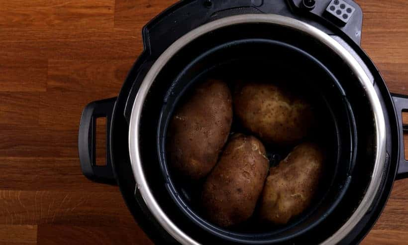 Pressure cooked potatoes in Instant Pot Duo Crisp #AmyJacky #InstantPot #PressureCooker #AirFryer