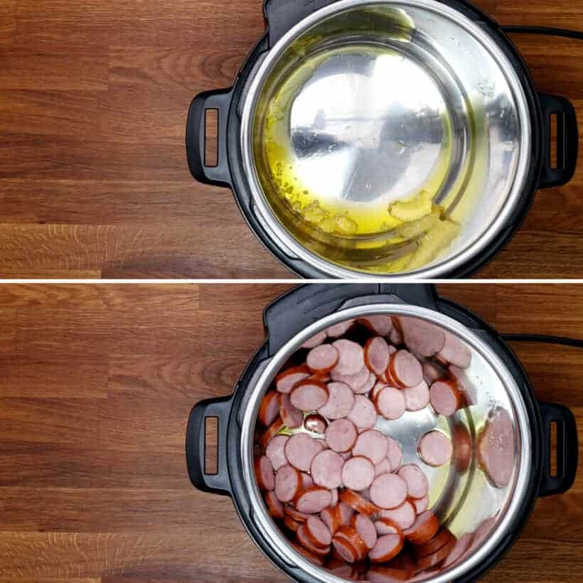 brown sausage in Instant Pot #AmyJacky #InstantPot #PressureCooker #recipe #sides
