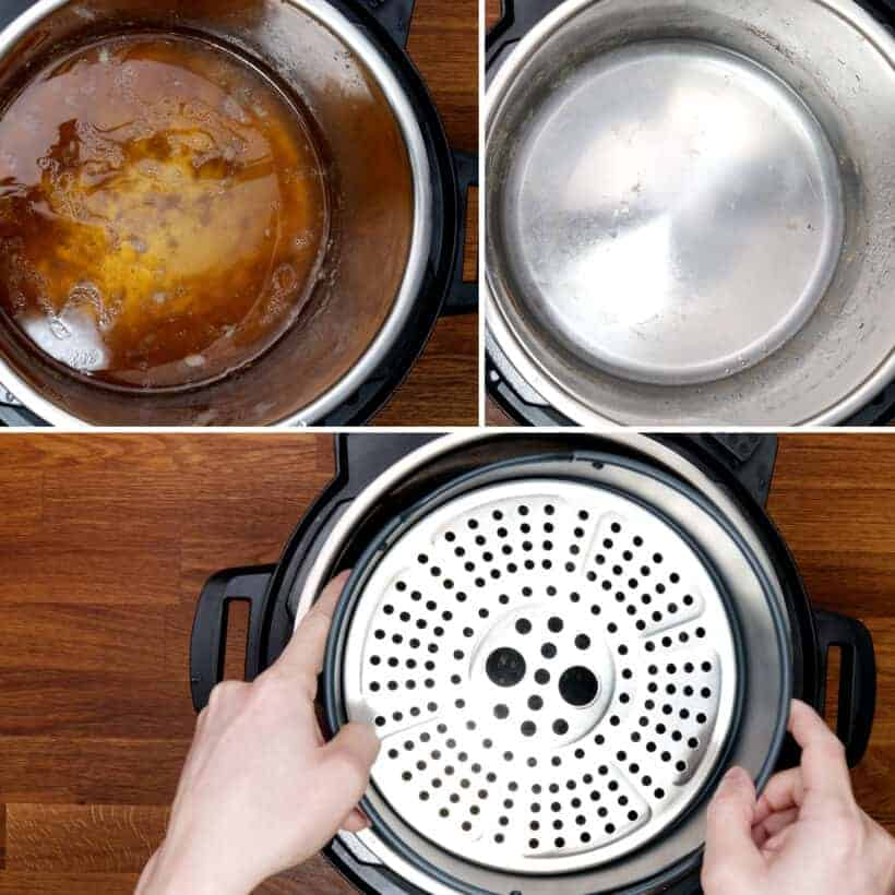 remove liquid from Instant Pot  #AmyJacky #InstantPot #PressureCooker #AirFryer #recipe
