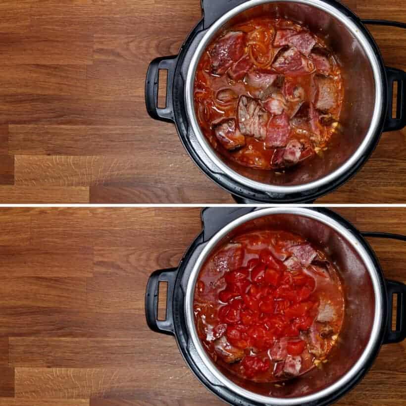 cooking tomato beef in Instant Pot  #AmyJacky #InstantPot #PressureCooker #beef