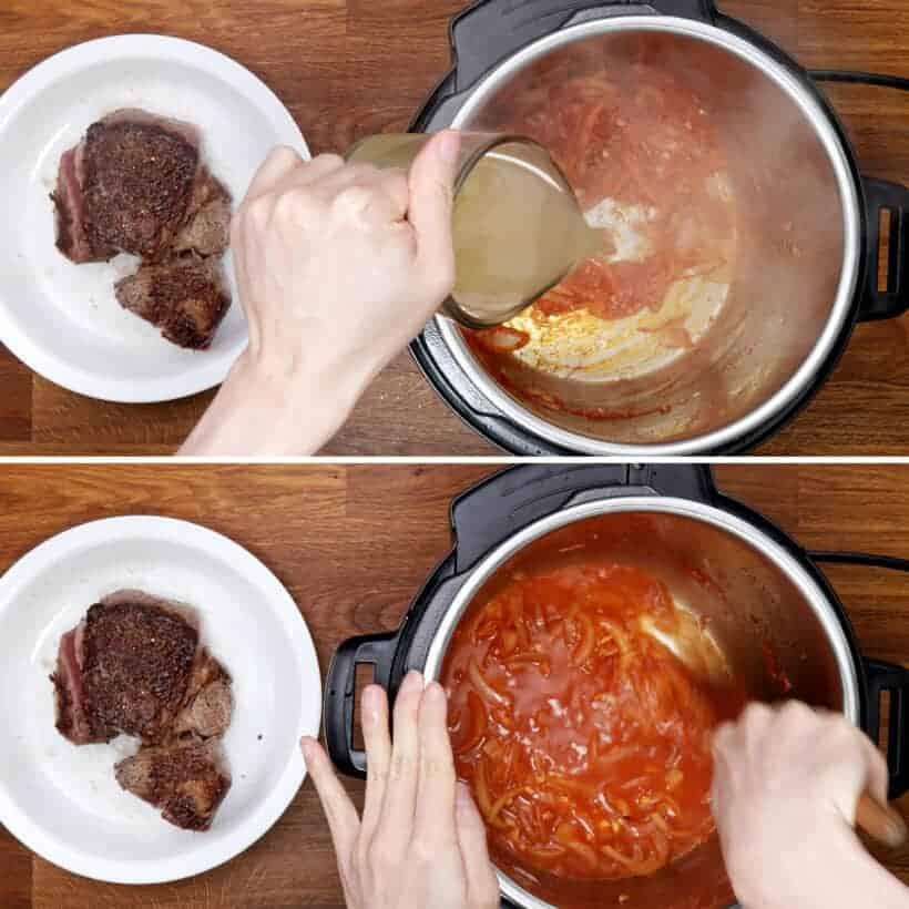 deglaze tomato beef in Instant Pot  #AmyJacky #InstantPot #PressureCooker #recipe #beef