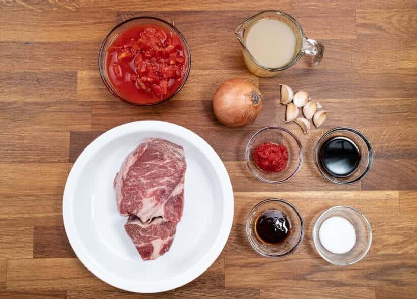 Instant Pot HK Tomato Beef Ingredients  #AmyJacky #InstantPot #PressureCooker #recipe