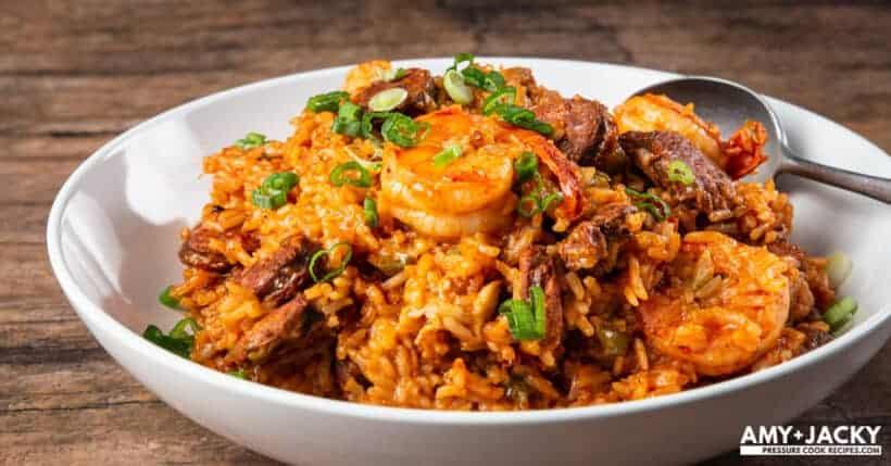instant pot jambalaya | jambalaya instant pot | pressure cooker jambalaya | sausage jambalaya | chicken jambalaya | shrimp jambalaya #AmyJacky #InstantPot #PressureCooker #recipe #chicken #cajun #sausage #shrimp #cajun #creole
