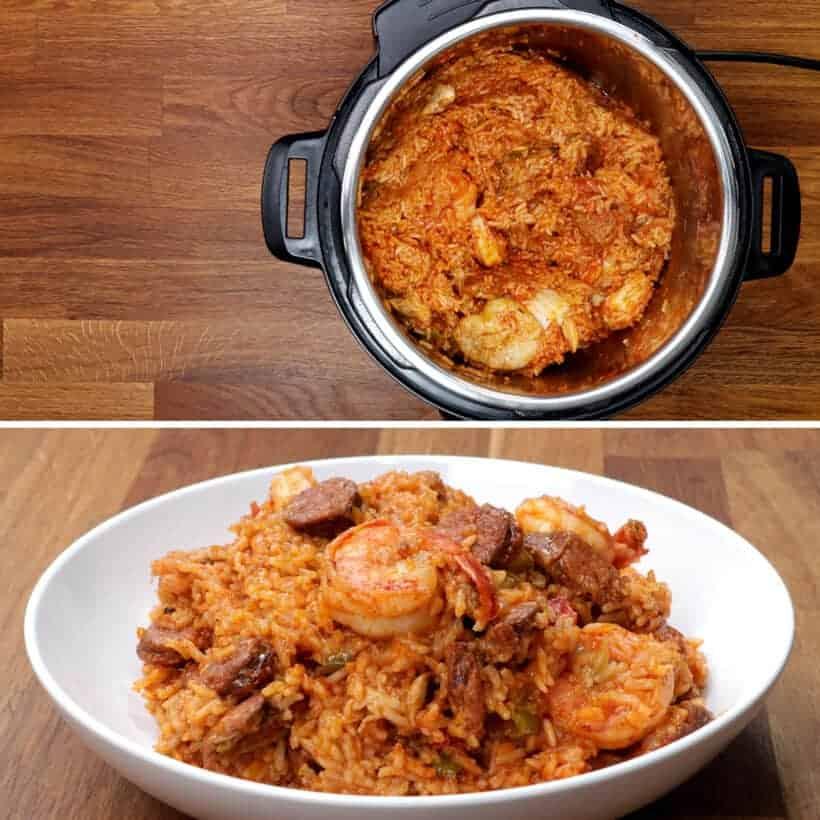 Cooking jambalaya in Instant Pot #AmyJacky #InstantPot #PressureCooker #recipe #chicken #cajun