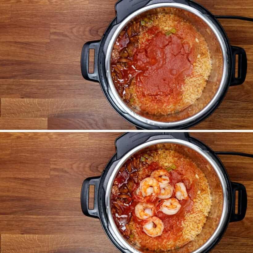 pressure cooked jambalaya in Instant Pot #AmyJacky #InstantPot #PressureCooker #recipe #chicken #cajun