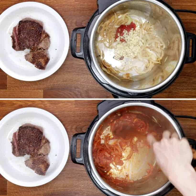 saute garlic in Instant Pot  #AmyJacky #InstantPot #PressureCooker