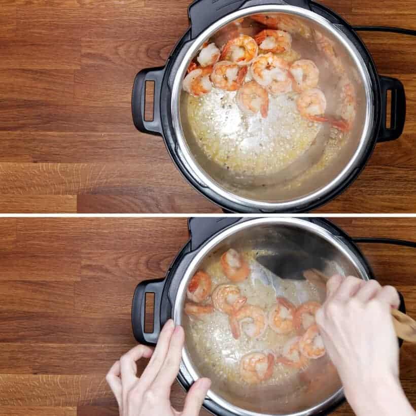 saute shrimps in Instant Pot #AmyJacky #InstantPot #PressureCooker #recipe #shrimps #cajun