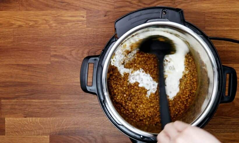 coconut lentil curry in Instant Pot    #AmyJacky #InstantPot #PressureCooker #recipe #vegan #vegetarian #beans