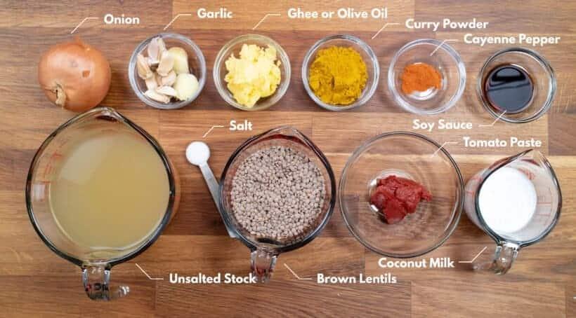 instant pot lentil curry ingredients #AmyJacky #InstantPot #PressureCooker #recipe