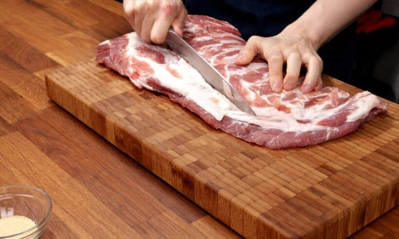 how to remove rib tips on spare ribs  #AmyJacky #recipe #pork #ribs