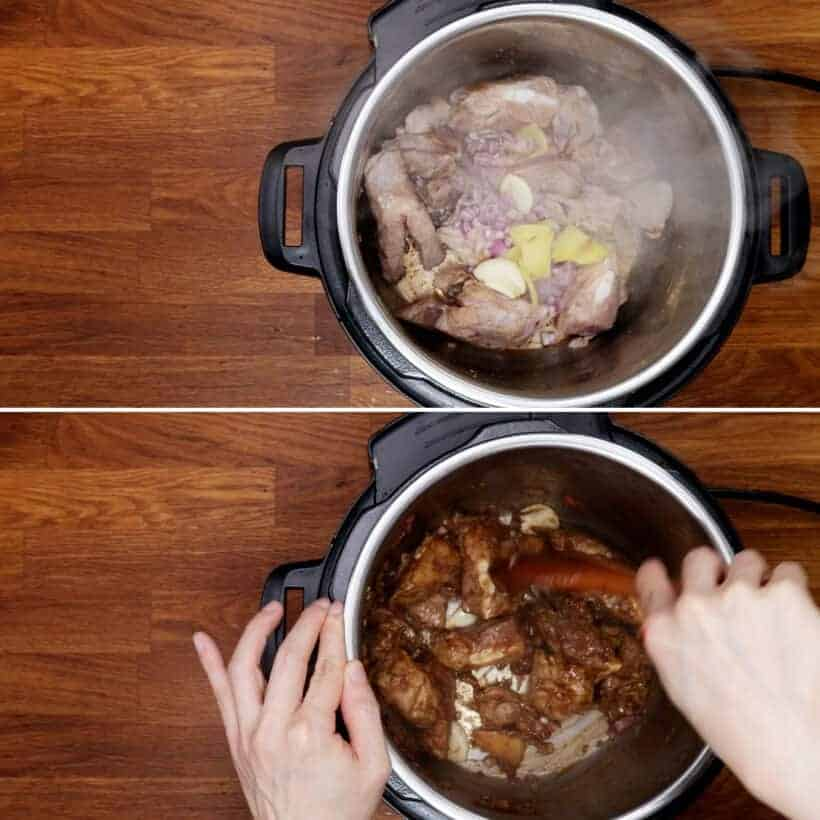 saute aromatics in Instant Pot #AmyJacky #recipe #InstantPot