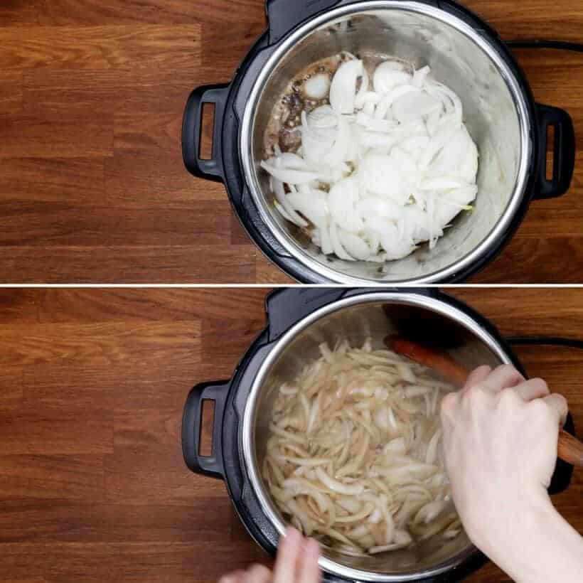 saute onions in Instant Pot  #AmyJacky #recipe
