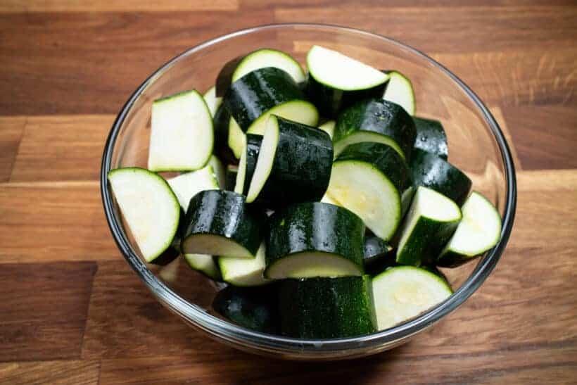 chopped zucchini  #AmyJacky