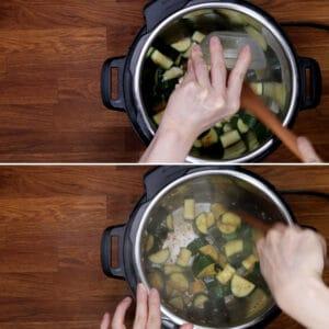garlic soy sauce zucchini #AmyJacky #InstantPot