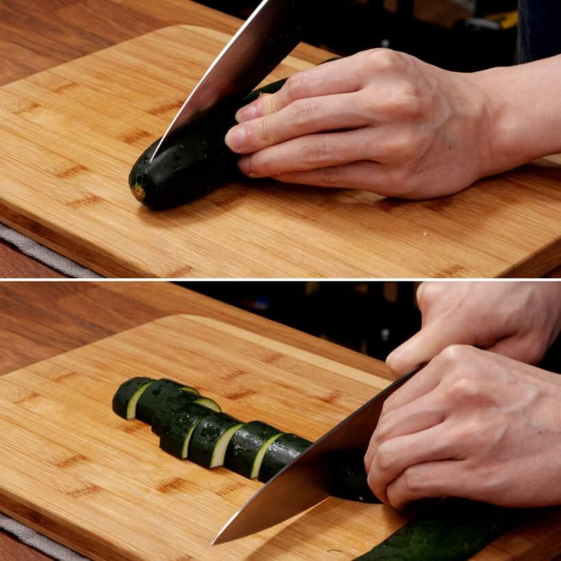 how to cut zucchini  #AmyJacky