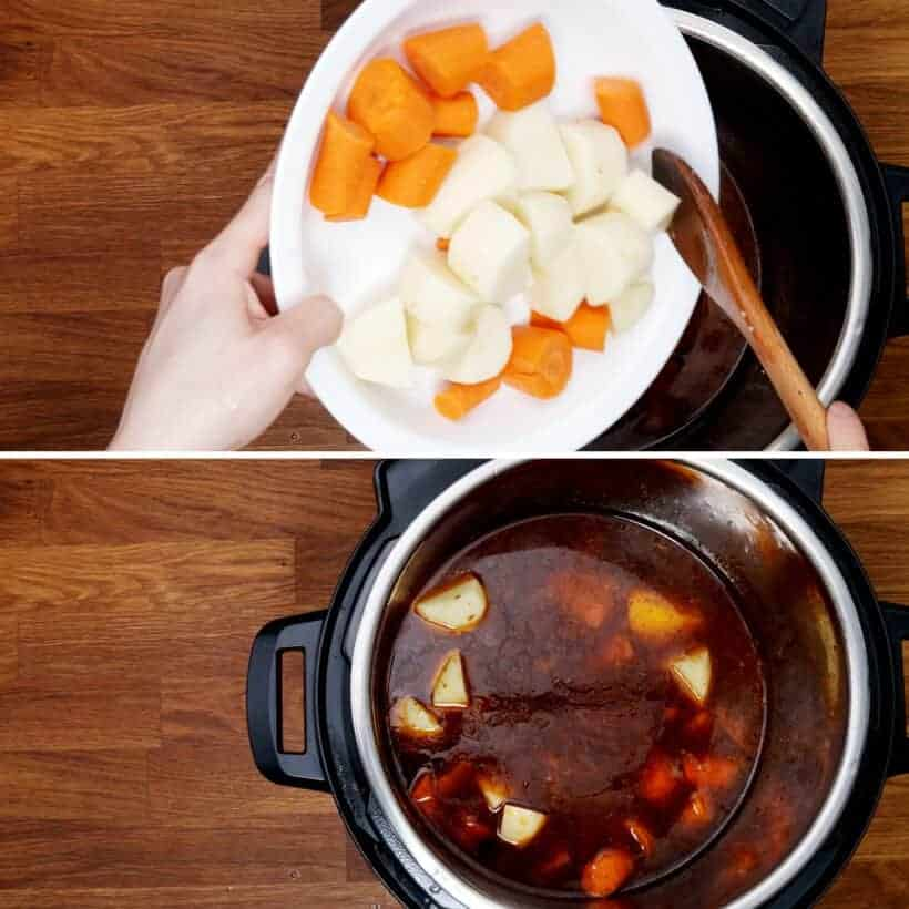 pressure cook carrots and potatoes in Instant Pot  #AmyJacky #InstantPot #recipe