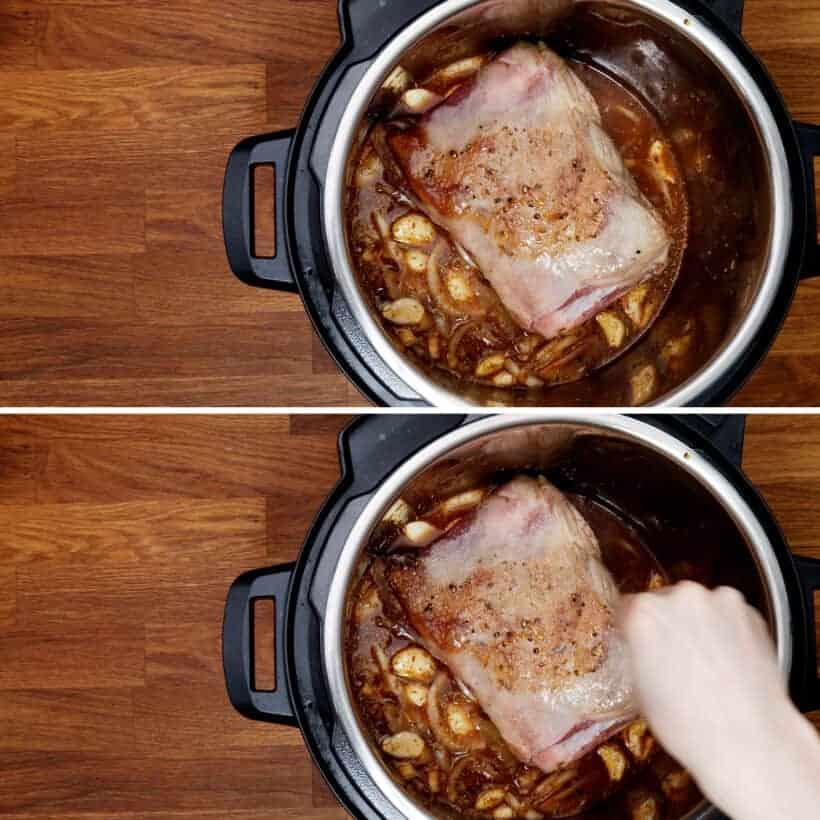 pressure cook lamb shoulder in Instant Pot  #AmyJacky #InstantPot #lamb
