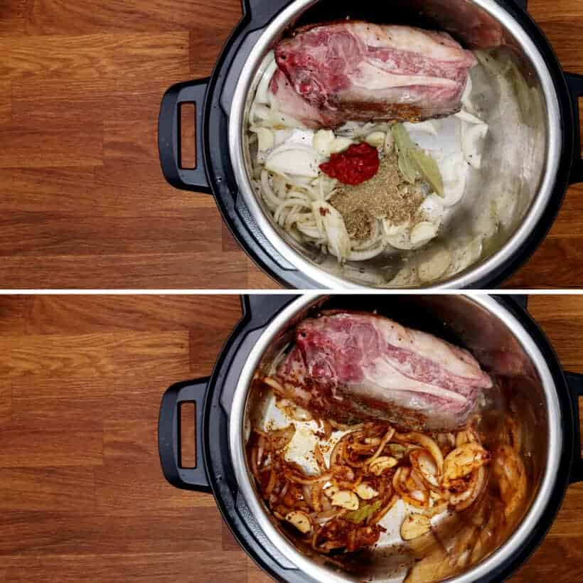 saute garlic and spices in Instant Pot  #AmyJacky #InstantPot #PressureCooker #recipe