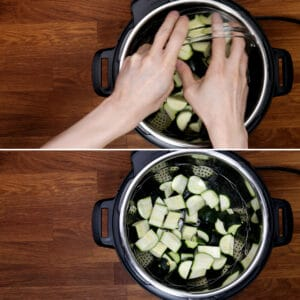 steamed zucchini in Instant Pot