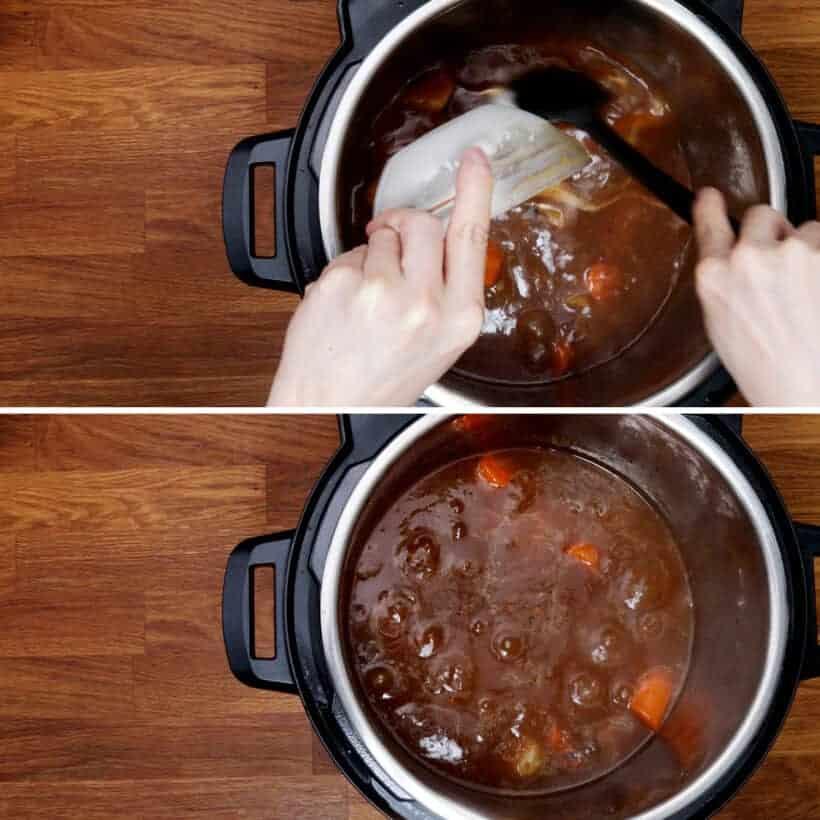 thicken lamb sauce in Instant Pot  #AmyJacky #recipe