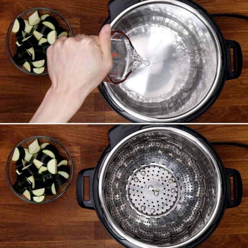Using Instant Pot Trivet to steam zucchini