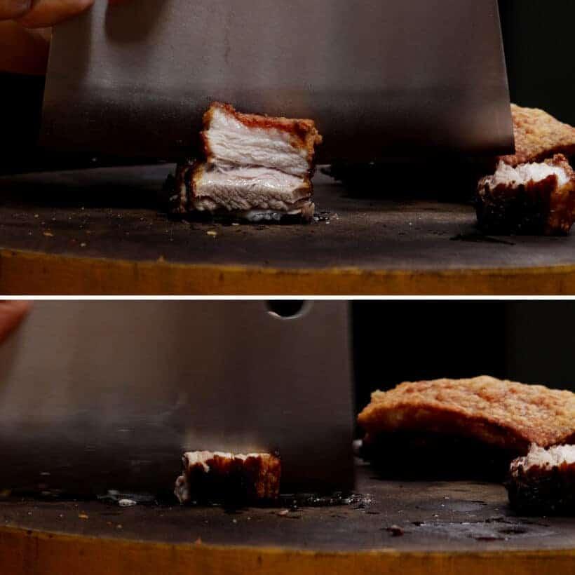 chop roasted pork belly  #AmyJacky