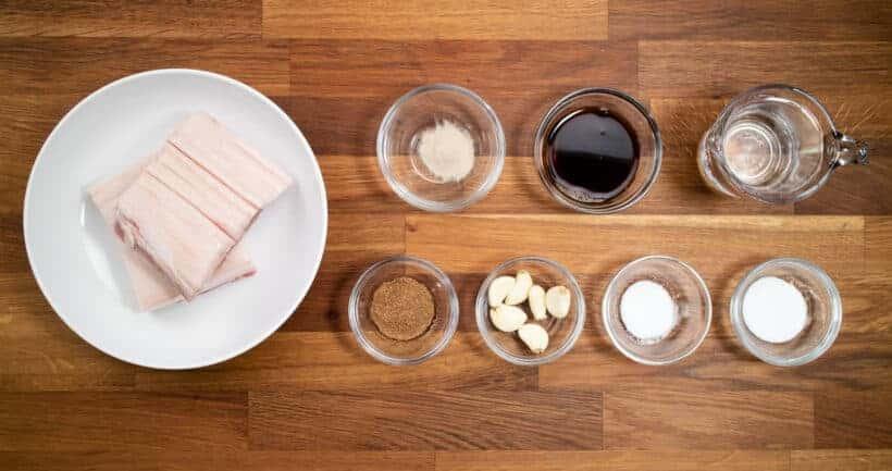 Instant Pot Pork Belly Ingredients