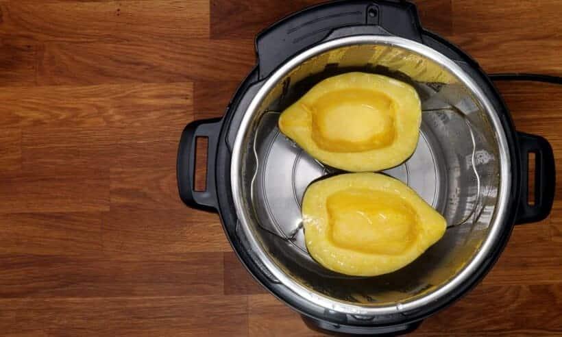 cooking acorn squash in Instant Pot  #AmyJacky #recipe #vegan