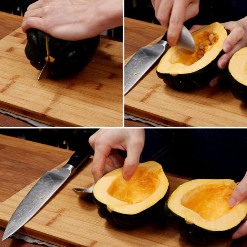 how to prepare acorn squash  #AmyJacky #recipe