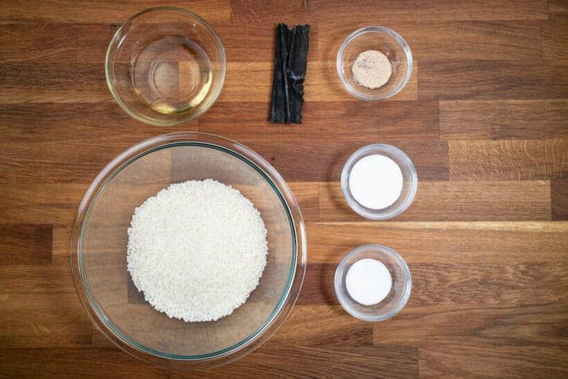 instant pot sushi rice ingredients  #AmyJacky #InstantPot