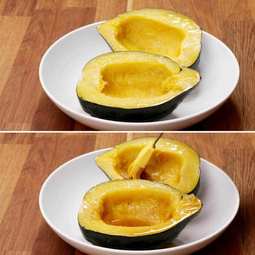 maple butter acorn squash  #AmyJacky #InstantPot #recipe