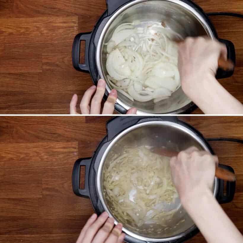 saute onions  #AmyJacky