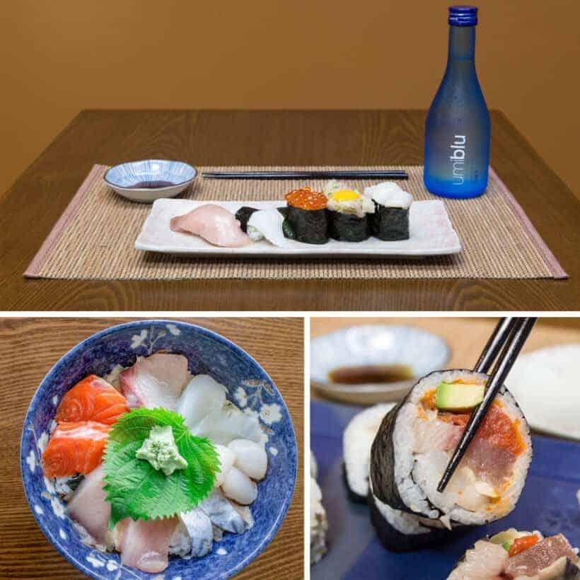 sushi, nigiri sushi, sushi rolls, chirashi donburi  #AmyJacky