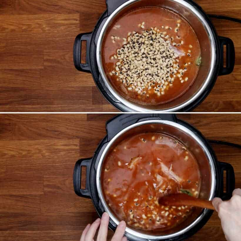 black eyed peas in the Instant Pot