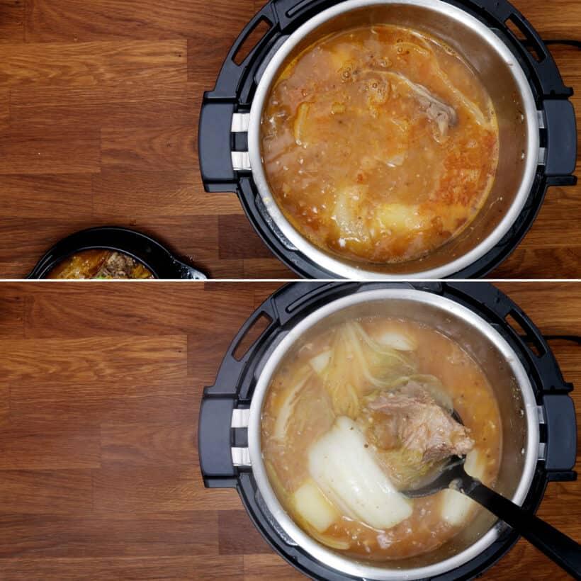 koreanische Schweineknochensuppe kochen