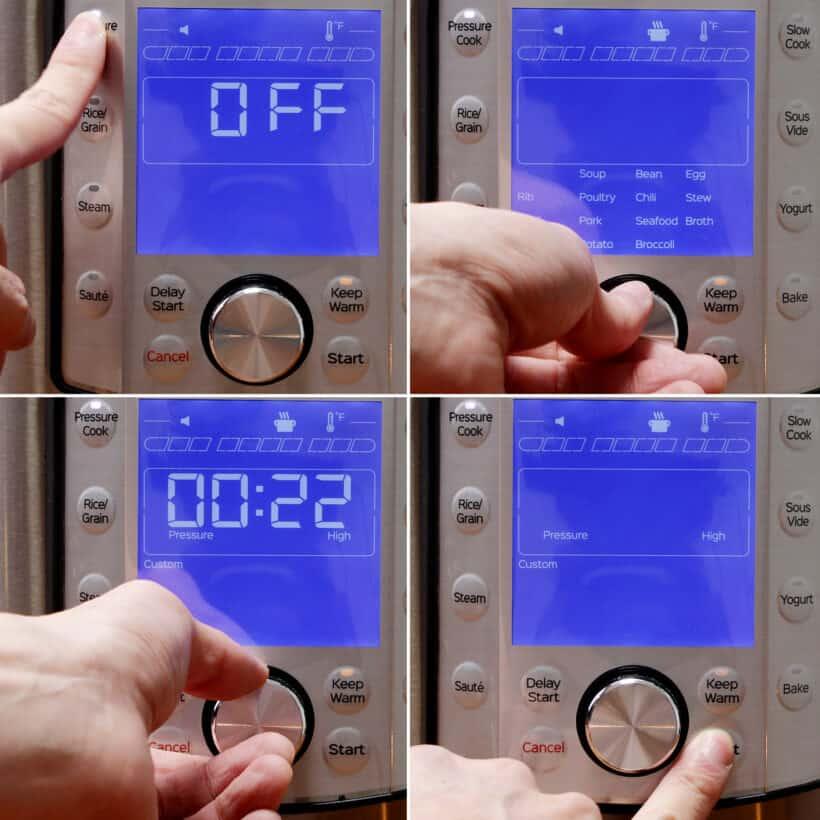 Instant Topf Schnellkochtopf Hochdruck für 22 Minuten