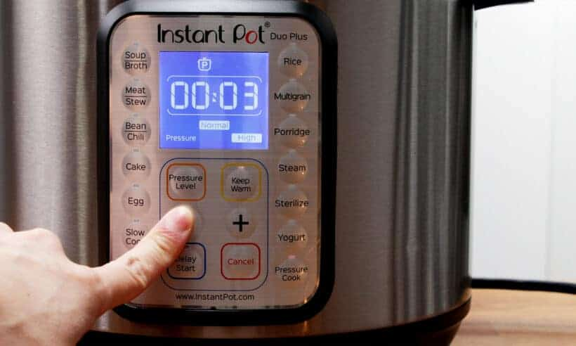 Instant Pot Pressure Cooker High Pressure 3 minutes