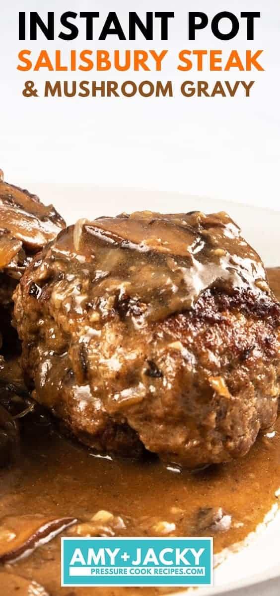 instant pot salisbury steak | pressure cooker salisbury steak | homemade salisbury steak | easy salisbury steak | salisbury steak with mushroom gravy #AmyJacky #InstantPot #GroundBeef #recipe