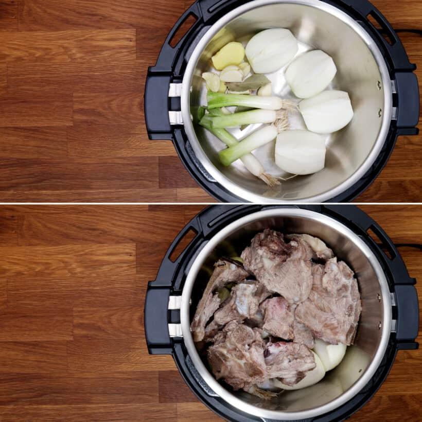 Schweineknochensuppe im Instant Pot