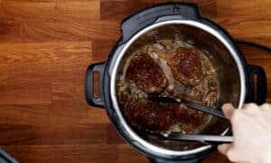 pressure cook salisbury steak